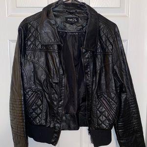 Rue 21 Black pleather crop Jacket